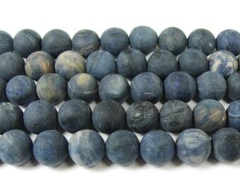 Neptune Jasper Matte Round Gemstone Beads
