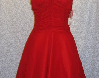 SALE Vintage Red Halter MARILYN MONROE Party Dress