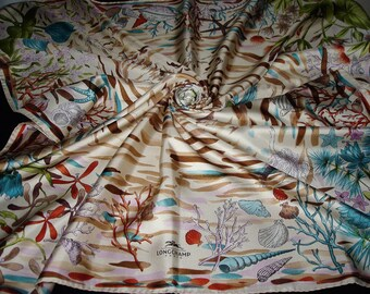 Authentic LONGCHAMP Longchamp silk scarf