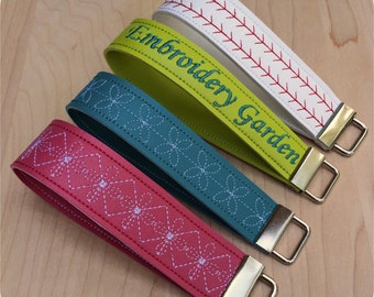 In the Hoop Vinyl Key Fobs Machine Embroidery Design Files Instant Download