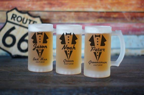 Personalized Groomsman Beer Stein