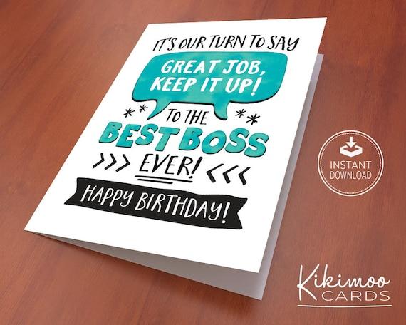 Boss birthday card card for boss boss appreciation card boss birthday card card for boss boss appreciation card boss birthday instant download best boss printable cards greeting card bookmarktalkfo Gallery