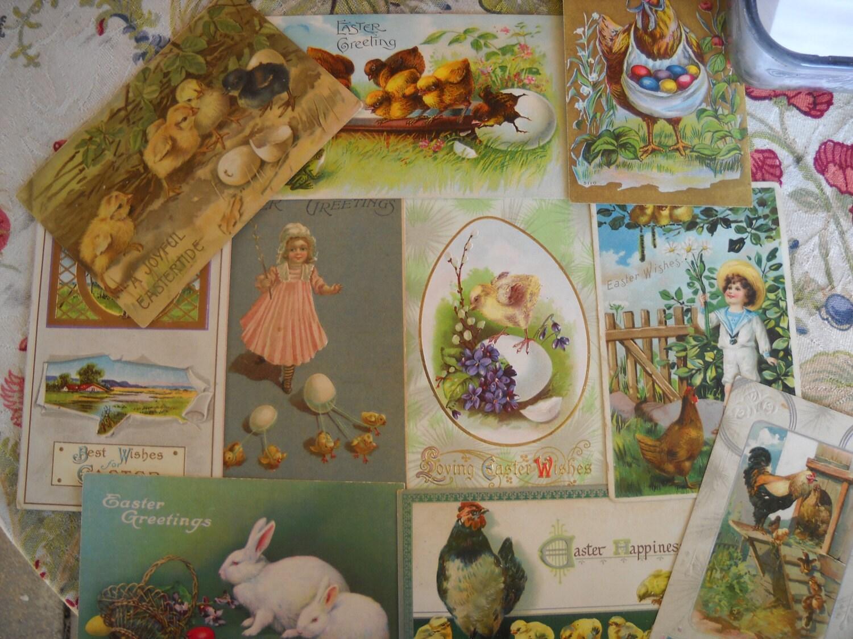 10 Fabulous Victorian German Easter Postcards Victorian