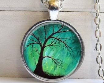 Tree Pendant, Photo Pendant, Tree Necklace, Twilight Tree Charm