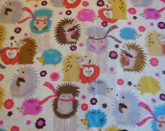 Michael Miller Hedgehog Meadow fabric