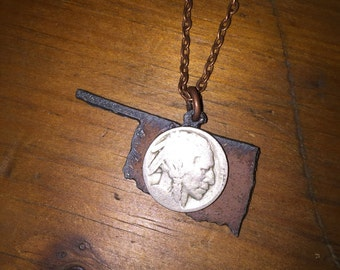 """Buffalo Nickel Oklahoma Necklace 
