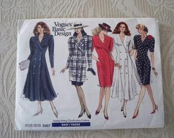 Vintage Sewing Pattern Vogue  Basic Design Pattern # 2007 Misses' Dress Tunic & Skirt Pattern Size 14 - 16 - 18