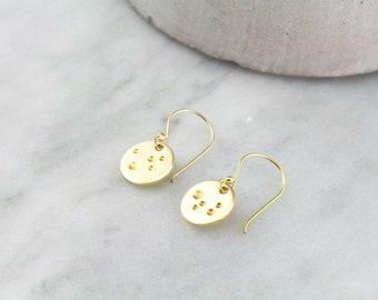 Gold Moon Earrings - Astronomy Gift - 14k Gold Filled Earring Gift For Her