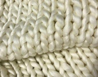 Chunky Knit Throw / Chunky Knit Blanket