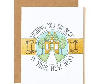 New Nest Letterpress Card // 1canoe2