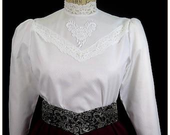 Edwardian Lace Cotton Blouse