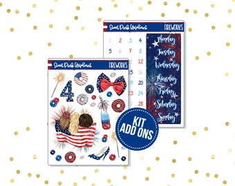 Fireworks // Kit ADD ONS-Stickers for the EC Happy Planner Life planner