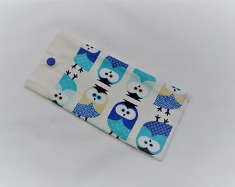 Glasses case customizable personalized name owls.