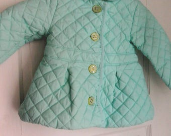 vintage 1960s baby girl quilted peacoat