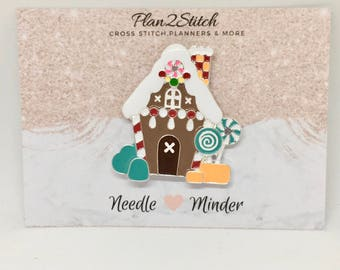 Gingerbread House Alloy Needle minder/ Magnet for Cross Stitch/Embroidery