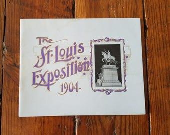 1904 St Louis Exposition Souvenir Program, 60 pages of Photos