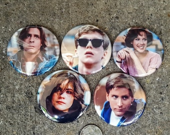 """Magnets or Pinbacks Set of 5 2.25"""" 58mm Breakfast Club John Hughes 80s Movie Magnets or Buttons YOU PICK!"""