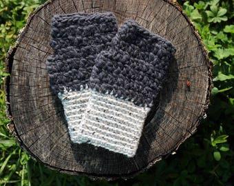 Fingerless gloves Beige / grey - men