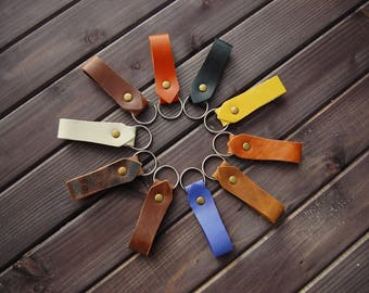 Key ring, Personlisierte key ring made of genuine leather, modern, handmade, keychain, leather gift, made