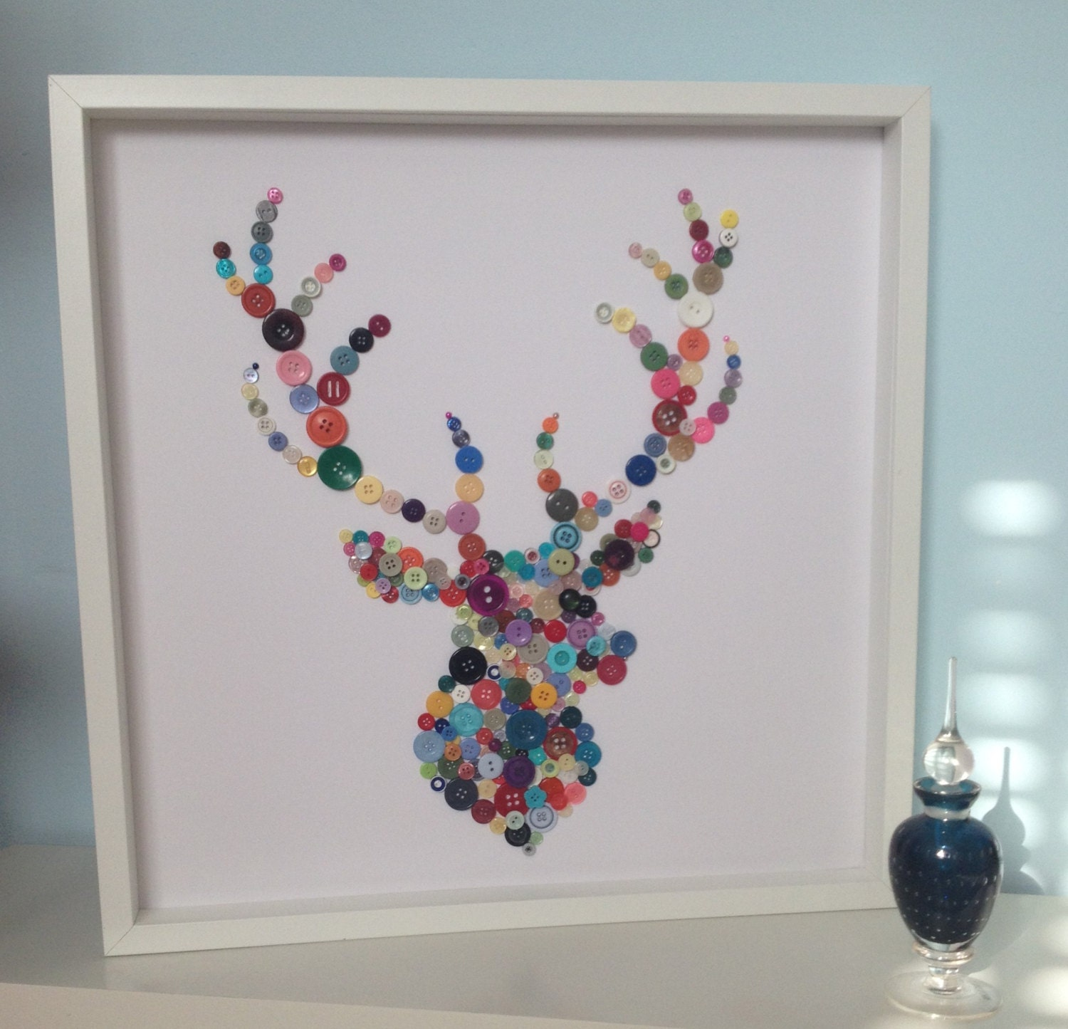 ?zoom & Stags Head Birthday Gift Gift Idea Button Art Stag Themed