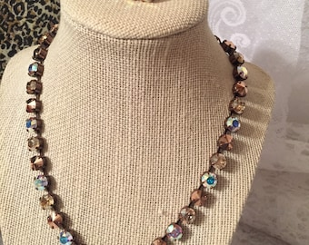 8mm Swarovski Necklace and Earring Set