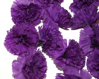 25 Purple Carnations - Artificial Flowers -  PRE-ORDER