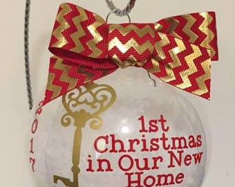 new home christmas ornament christmas gift christmans ornamentstocking ornament our first home ornament new house ornamement