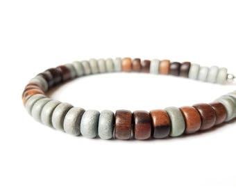 Tribal men's bracelet - wood bracelet for men - Stormwood