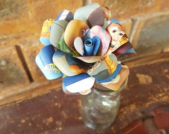 Toy Story Book Disney Book Bouquet-Book lover gift-Book Bouquet-Book decor- Unique Gift- Bridal Bouquet- Paper flowers-Wedding- Valentines