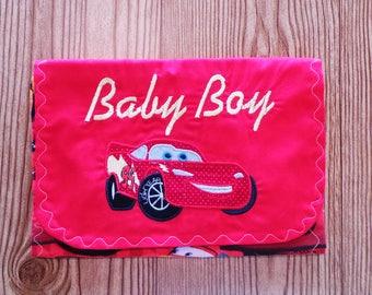 Diaper & Wipe Clutch/Small Diaper Bag/Red Diaper and Baby Wipe Clutch/Mini Nappy Bag/Travel Small Diaper Bag/Diaper and Wipe Organizer