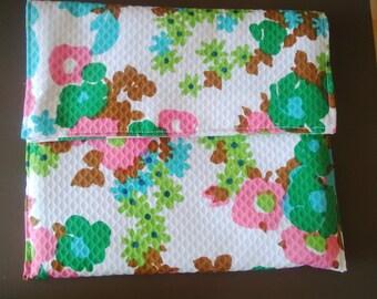 cotton waffle flap pocket