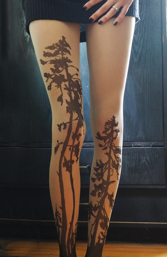 Forest tattoo tights pine tree tattoo