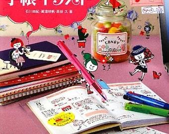 4 Color Ballpoint Pen Kawaii Illustration Book - Japanese Craft Books Japanese How to illustration practice
