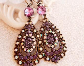 Chandelier Earrings - Purple - Statement Earrings - Gift -  OGILVY Lavender