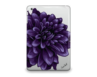 iPad Air case, iPad Mini case, iPad Mini 2 case, iPad 3 case, iPad clear case, custom iPad case, iPad TPU,Dahlia Clear case