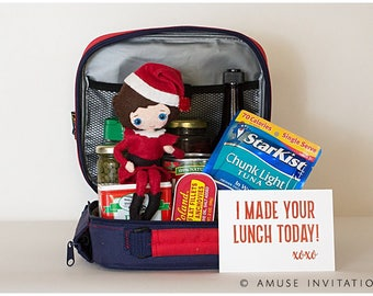 Elf Makes Lunch, Elf Funny Idea, Elf Lunch, Christmas Elf Accessories, Santa's Elf Prop, Elf Printable, Christmas Elf Ideas, Easy Elf Ideas