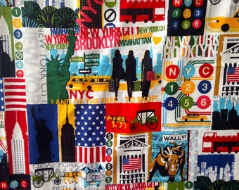 NEW YORK City minky blanket / NYC baby cuddle blankie / crib or stroller blanket... ready to ship... 29 by 32 inches