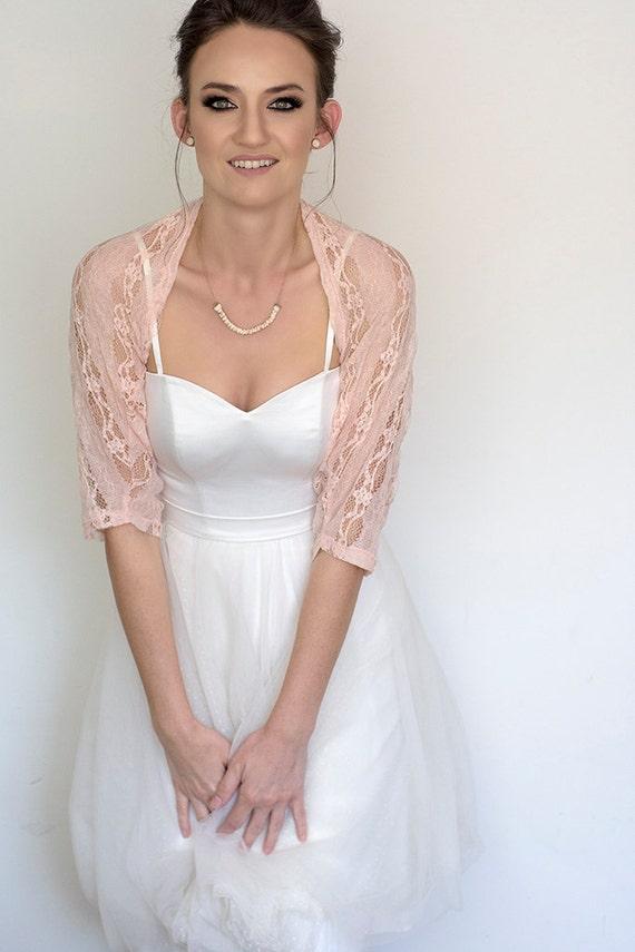 Blush wedding shawl bridal cover up blush bridesmaid lace junglespirit Gallery