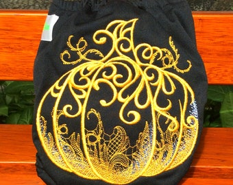 Gorgeous Pumpkin Limited Edition Embroidery  AIO Cloth Diaper On Sale in Limited Time