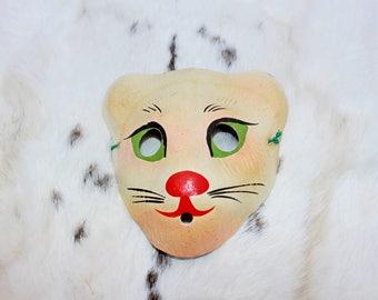 Kids mask Soviet vintage kids mask Kids cat mask Kids animal mask Vintage masks Vintage mask Soviet masks