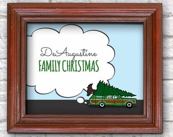 Personalized National Lampoon Christmas Vacation Wall Art, Decoration, Sign, Room Decor, Print - Printable Last Minute Gift Instant Download