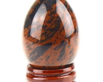 (Mahogany) 50mm mahogany Obsidian egg