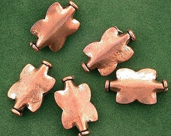 5 pure copper butterfly antiqued casted designer bead