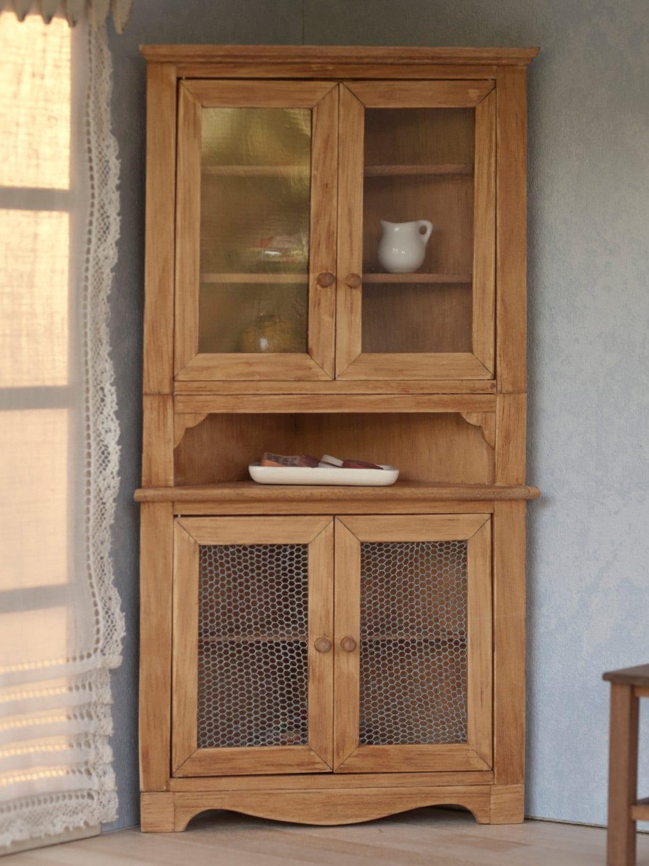Alacena Esquinera De Madera En Miniatura Para Casas De Mu Ecas ...