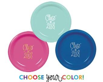 Graduation Dinner Plates | Choose YOUR Color!