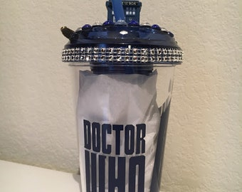 Themed Bling Fruit Infuser Doctor Who Tumbler