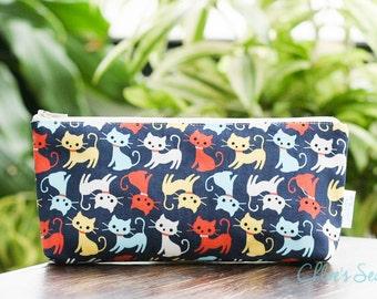 Cat Pencil Case, Cat Lover, Pencil Pouch, Zipper Pouch, Pencil Holder, School Supplies, Purse Organizer, Teen Gift, Makeup Bag, Cosmetic Bag