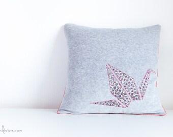Origami Pillow Cover - Liberty Crane
