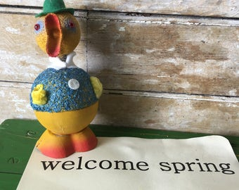 Vintage West German Duck Candy Container Paper Mache