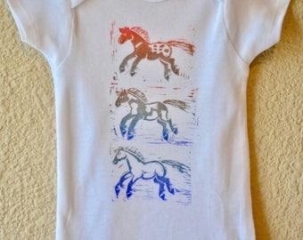 Colorful Horse Gerber Onesie Appaloosa, Paint Horse